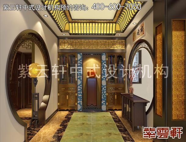 古典中式平層住宅裝修設計案例,華美大氣  清新別致